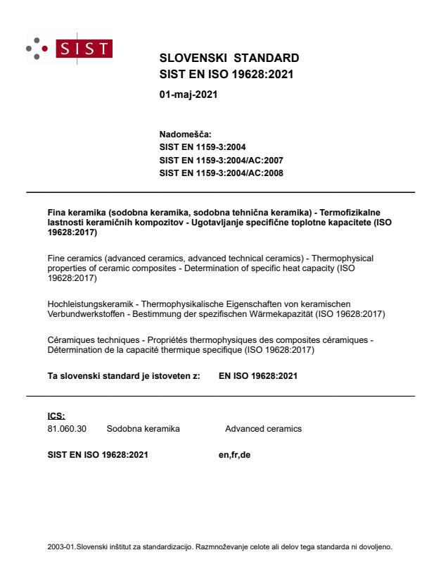 SIST EN ISO 19628:2021