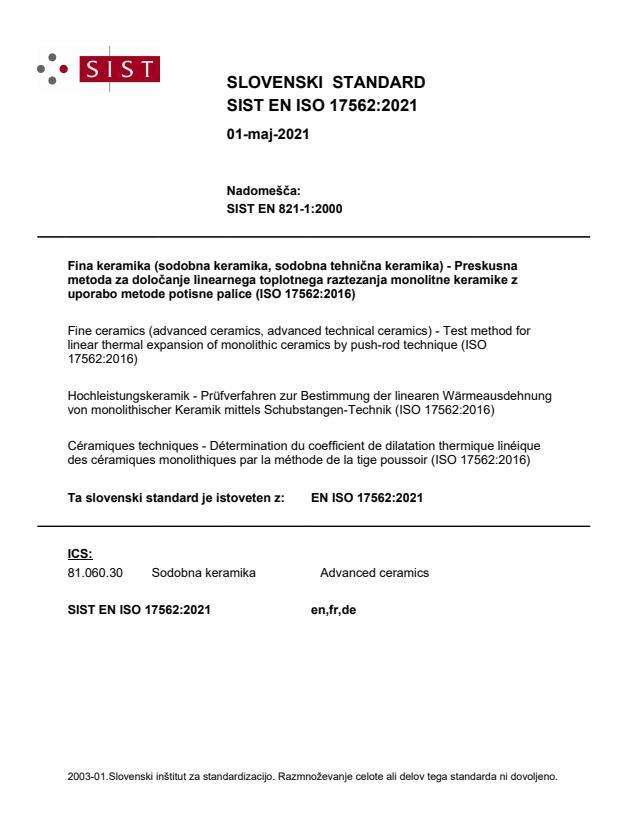 SIST EN ISO 17562:2021