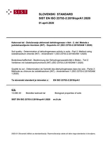 SIST EN ISO 23753-2:2019/oprA1:2020