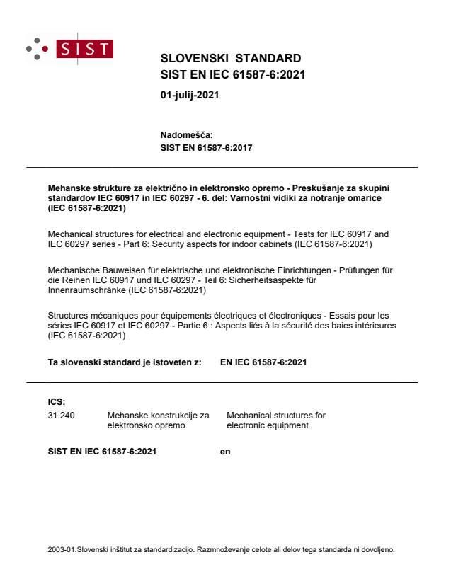 SIST EN IEC 61587-6:2021