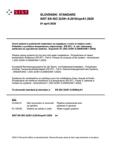 SIST EN ISO 22391-5:2010/A1:2021