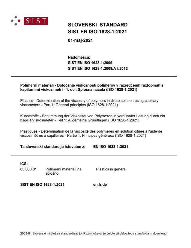 SIST EN ISO 1628-1:2021