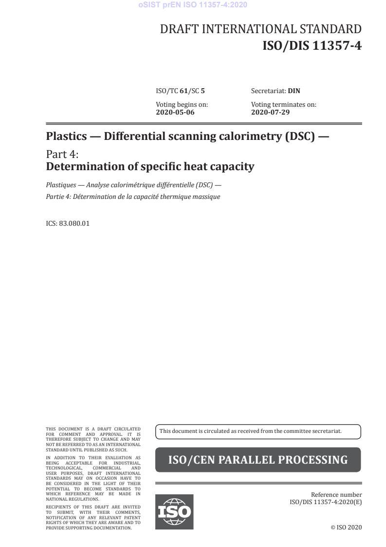 kSIST FprEN ISO 11357-4:2020