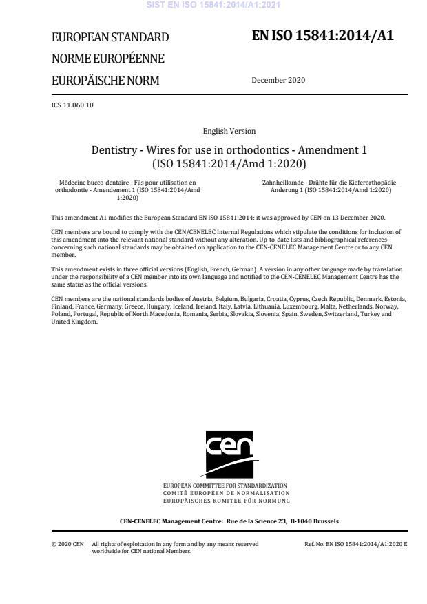 EN ISO 15841:2014/A1:2021