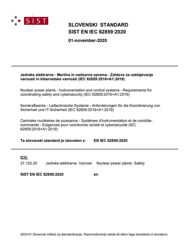 SIST EN IEC 62859:2020