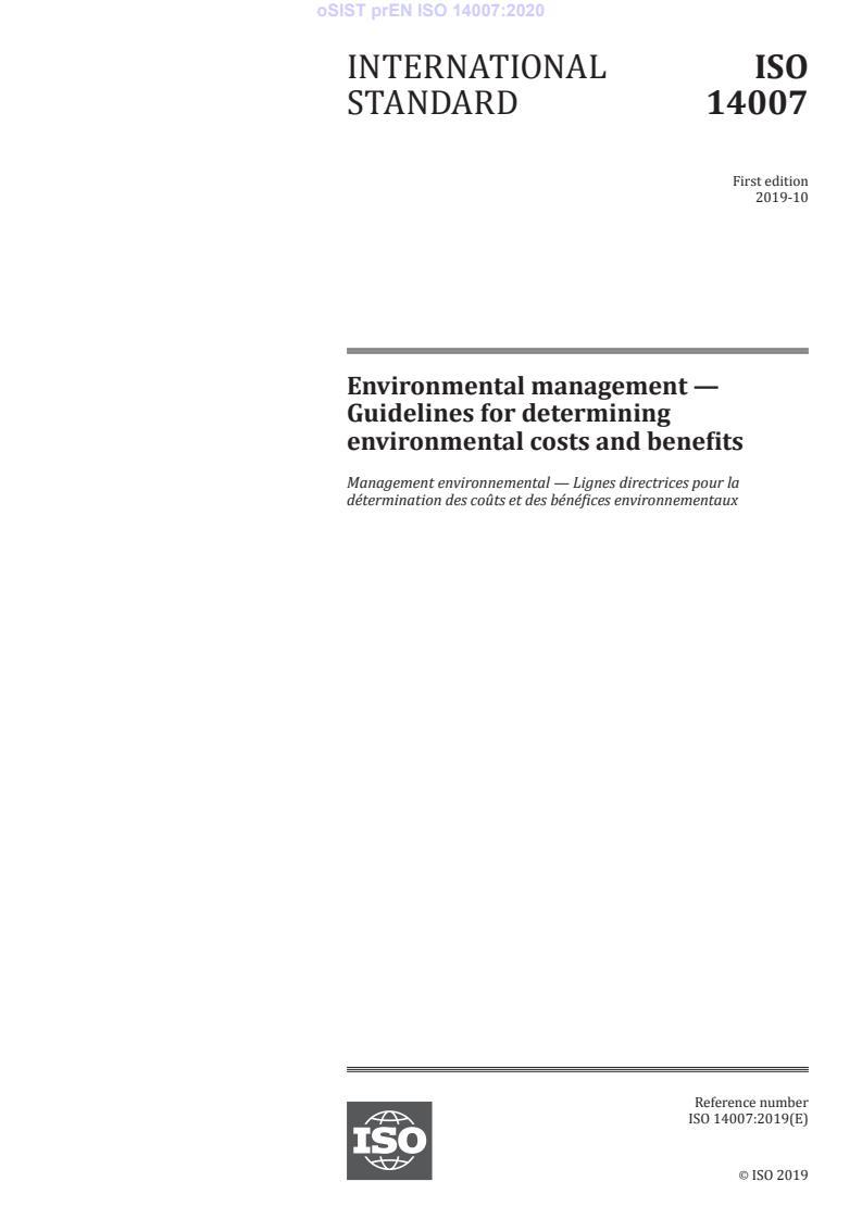 SIST EN ISO 14007:2020