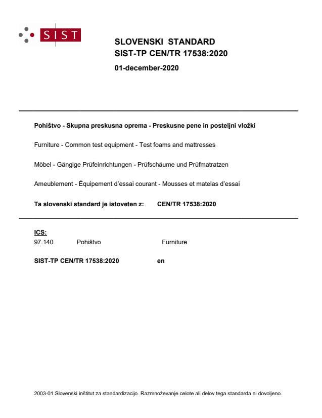 SIST-TP CEN/TR 17538:2020