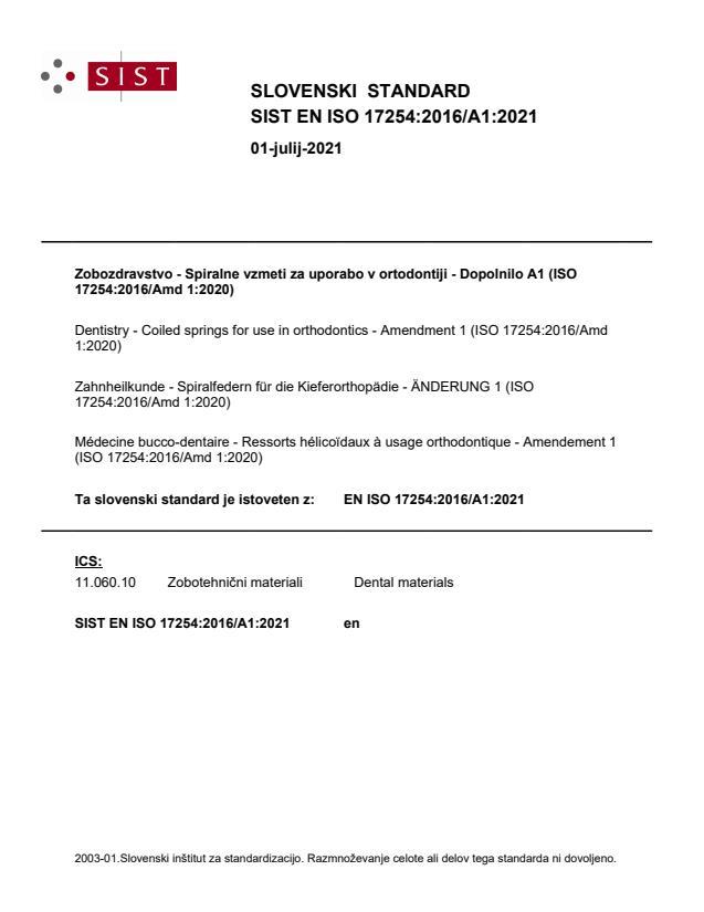 SIST EN ISO 17254:2016/A1:2021