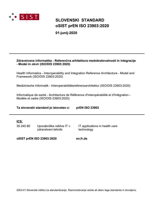 SIST EN ISO 23903:2021
