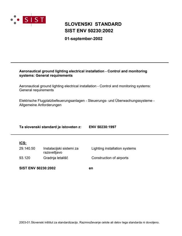 SIST ENV 50230:2002