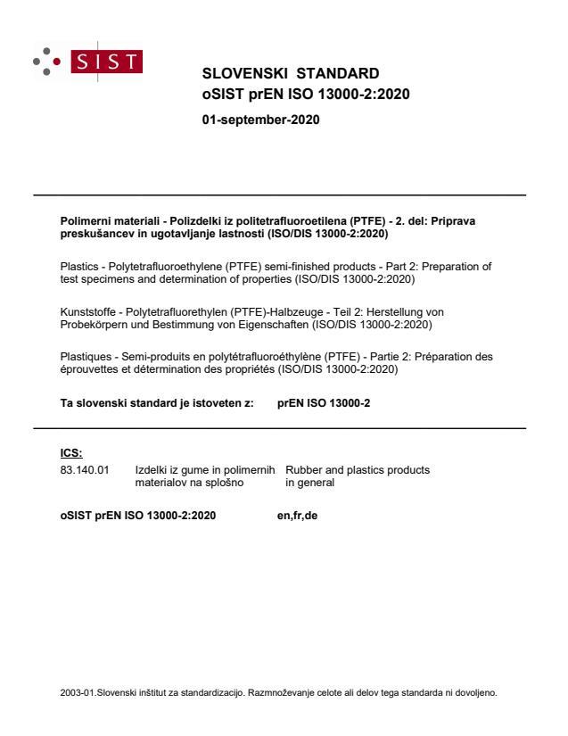 oSIST prEN ISO 13000-2:2020