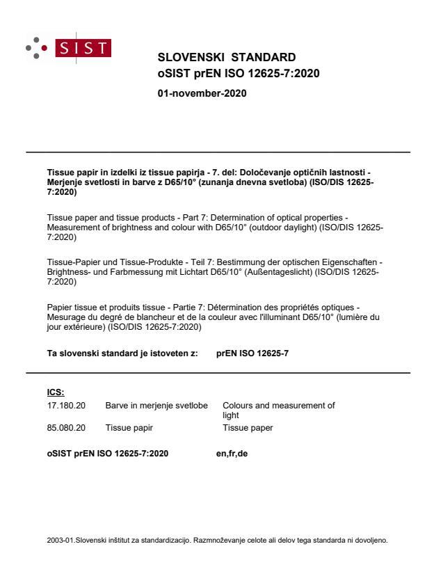 prEN ISO 12625-7:2020