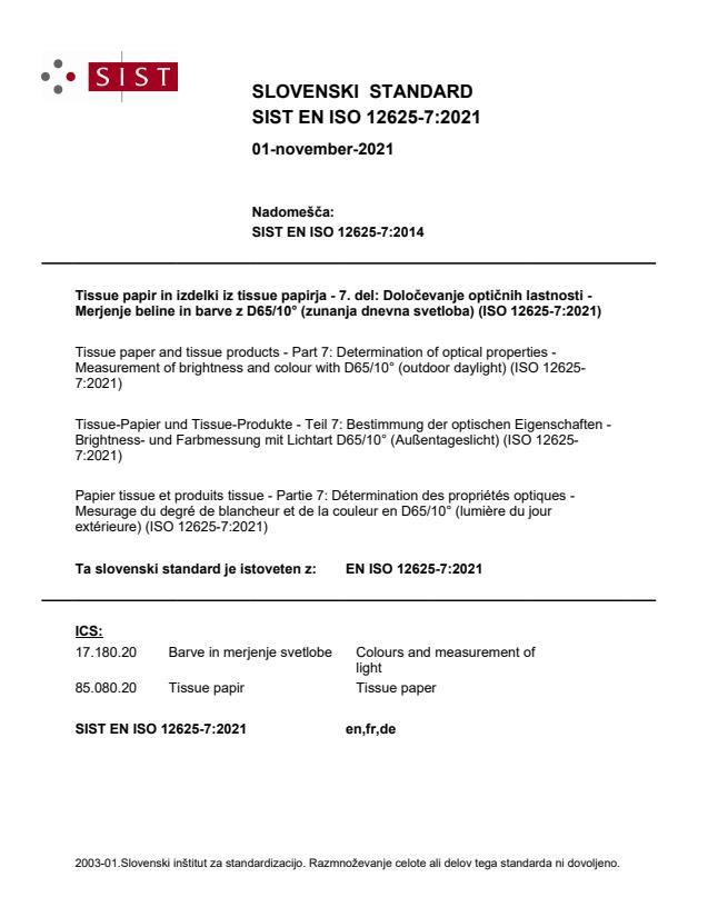 SIST EN ISO 12625-7:2021