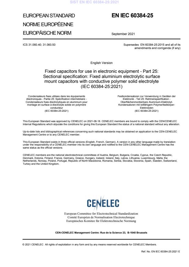 EN IEC 60384-25:2021