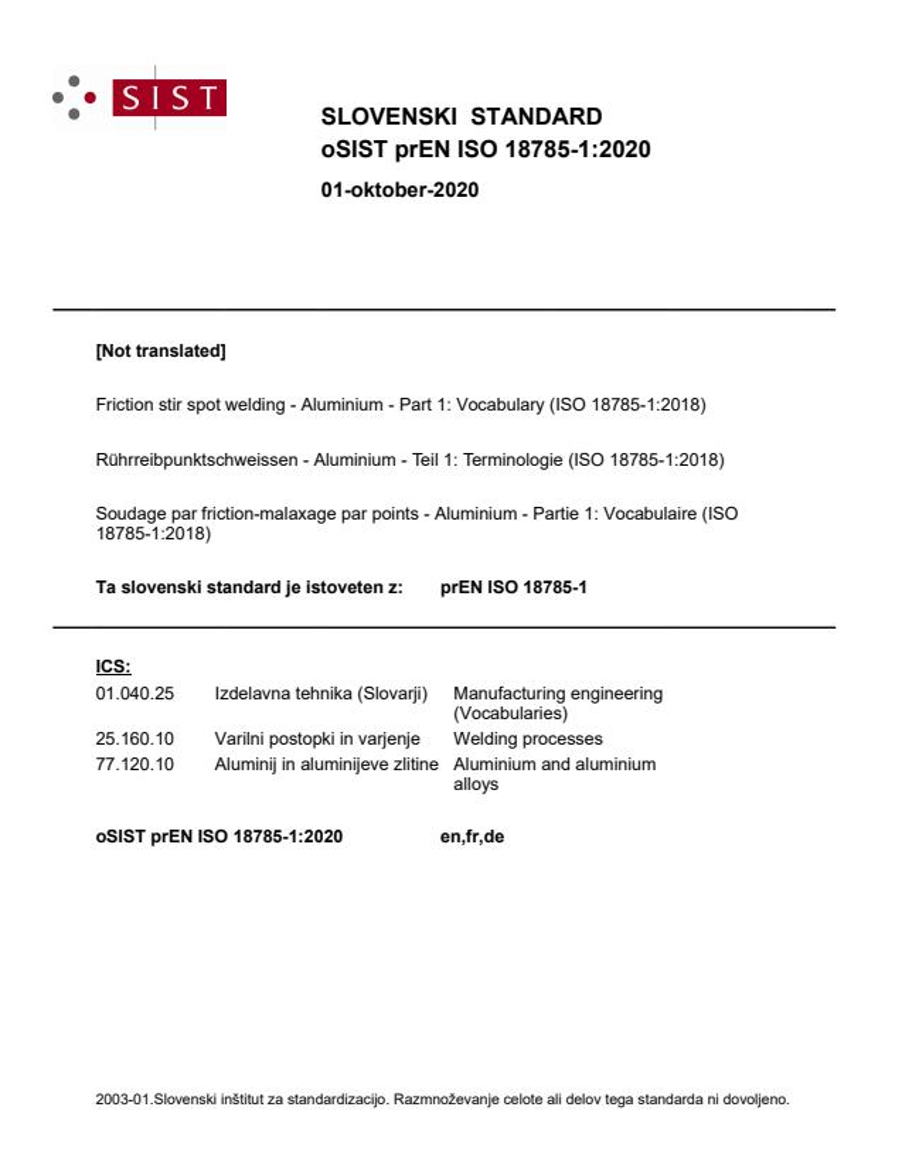 EN ISO 18785-1:2021