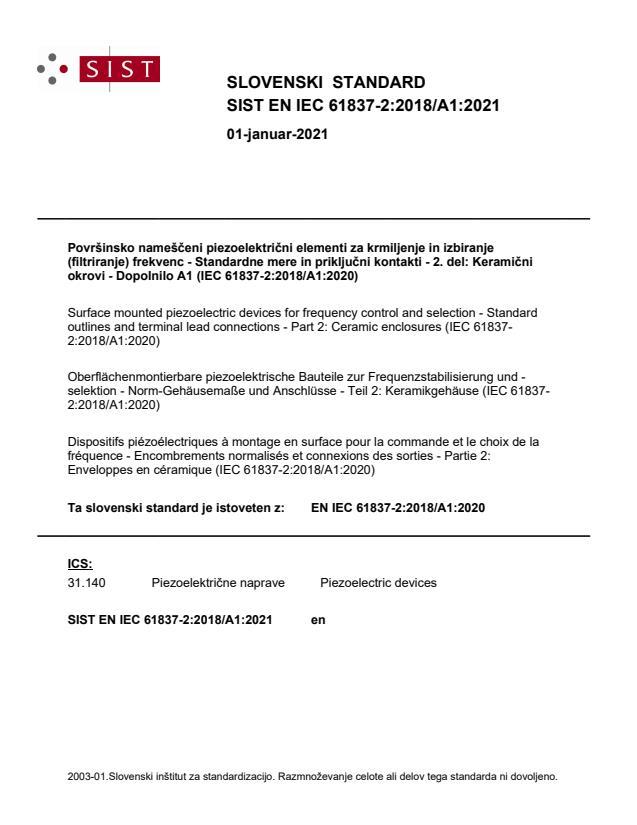 SIST EN IEC 61837-2:2018/A1:2021