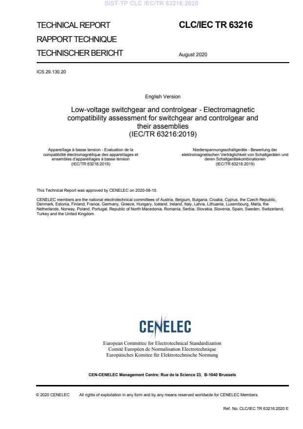 SIST-TP CLC IEC/TR 63216:2020