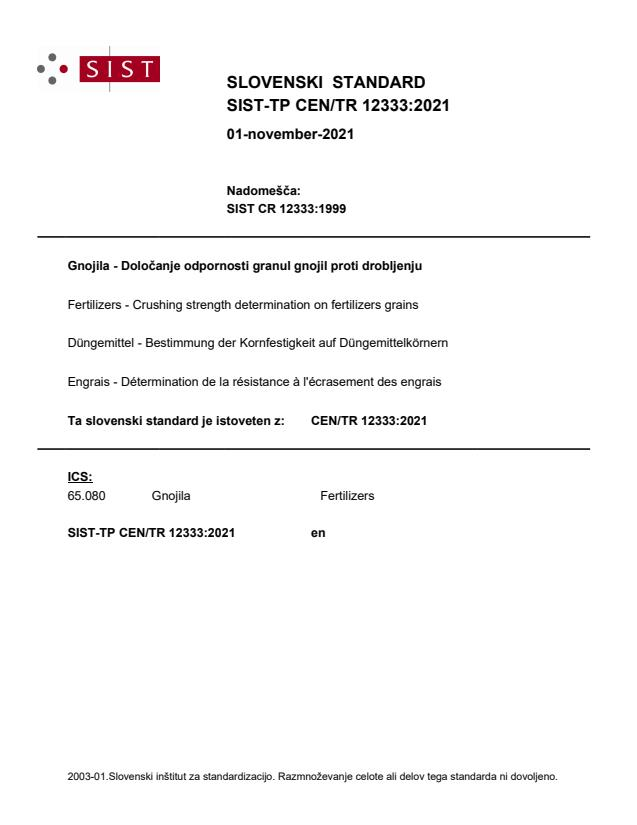 SIST-TP CEN/TR 12333:2021