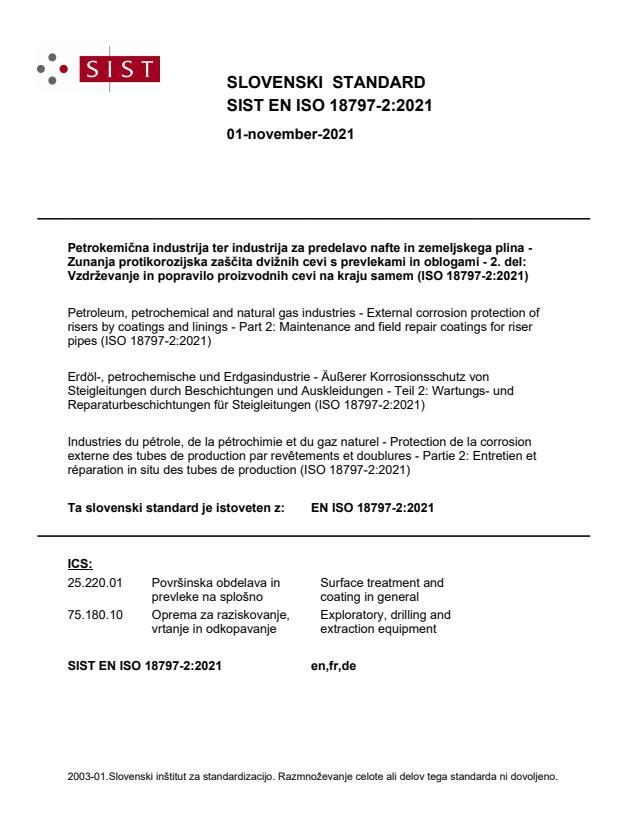 SIST EN ISO 18797-2:2021