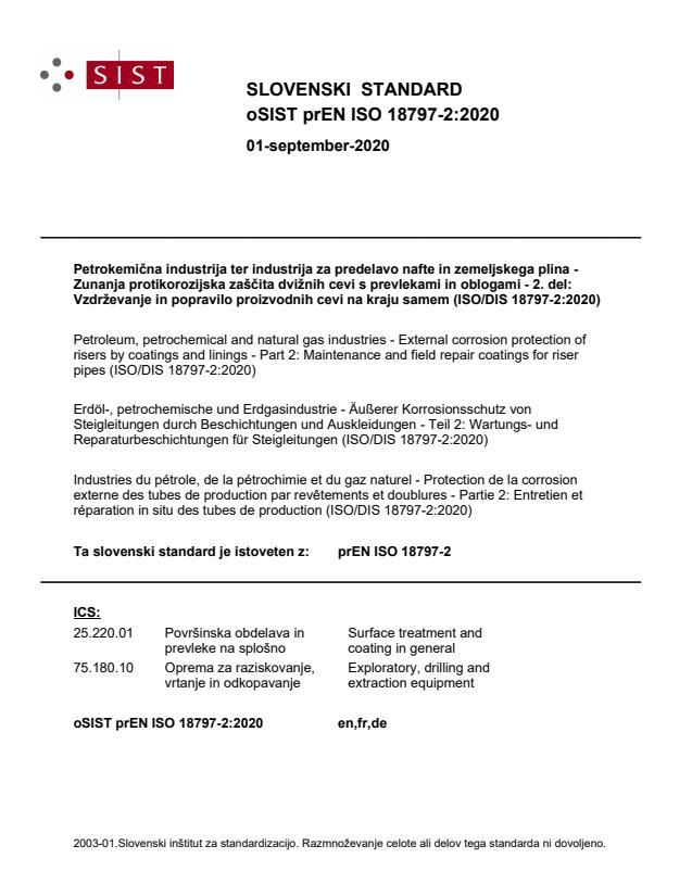 oSIST prEN ISO 18797-2:2020
