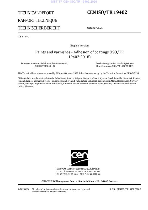 SIST-TP CEN ISO/TR 19402:2020
