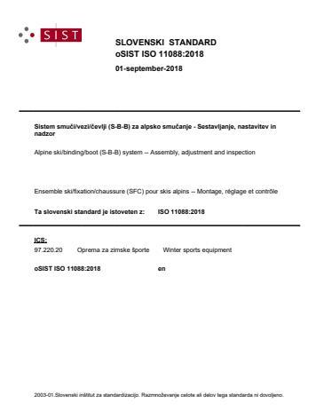 oSIST ISO 11088:2018