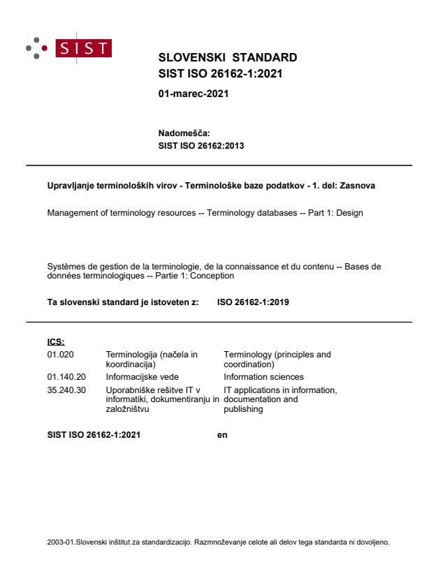 SIST ISO 26162-1:2021