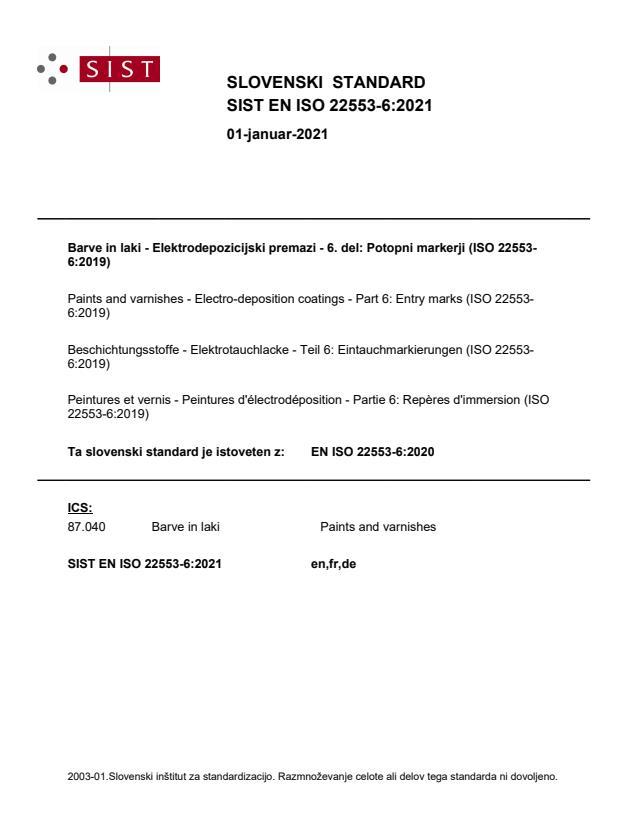 SIST EN ISO 22553-6:2021