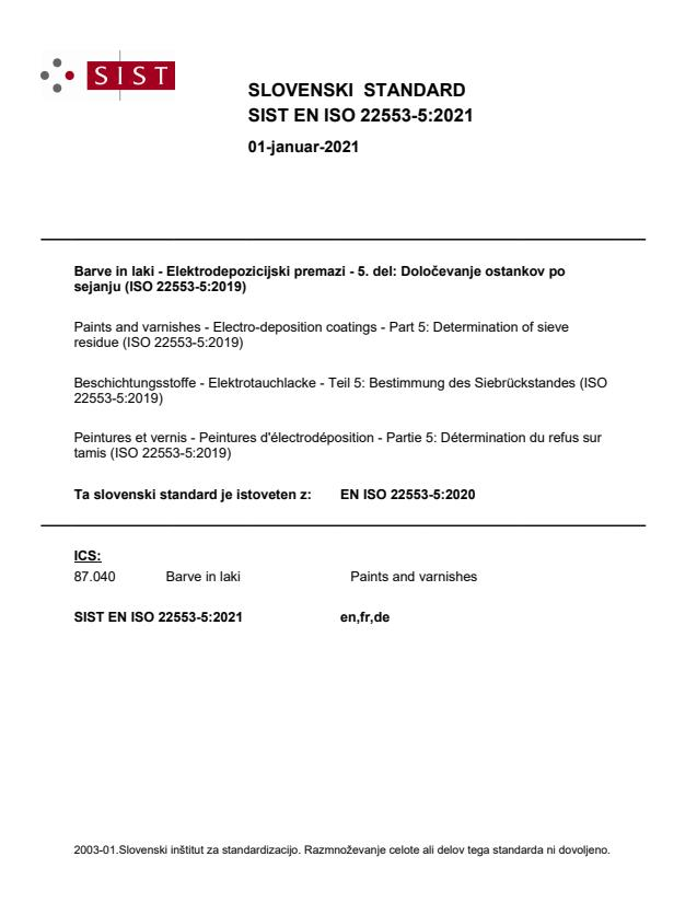 SIST EN ISO 22553-5:2021