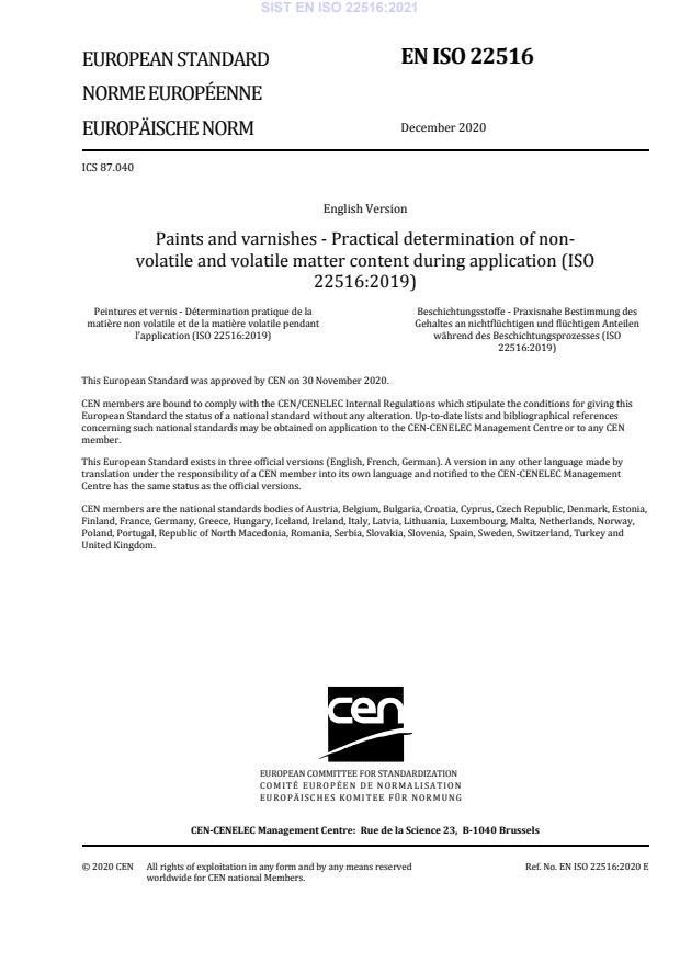 SIST EN ISO 22516:2021