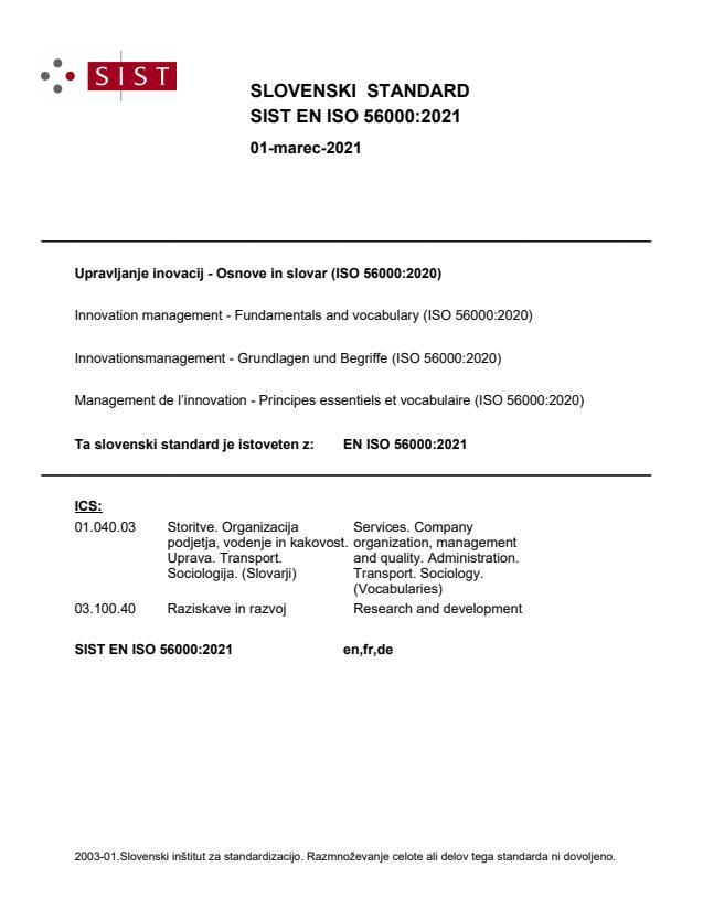 EN ISO 56000:2021