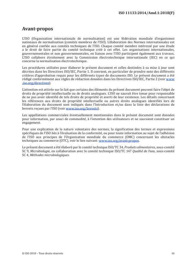 ISO 11133:2014/Amd 1:2018