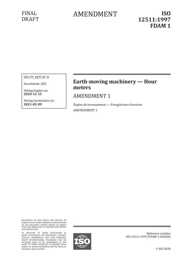 ISO 12511:1997/FDAmd 1:Version 12-dec-2020
