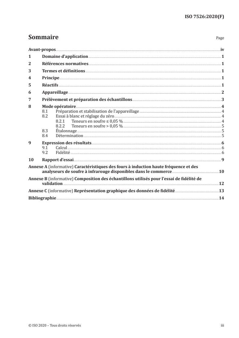 ISO 7526:2020 - Ferronickels -- Détermination de la teneur en soufre -- Méthode par absorption dans l'infrarouge apres combustion dans un four a induction