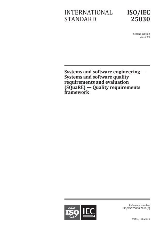 ISO/IEC 25030:2019