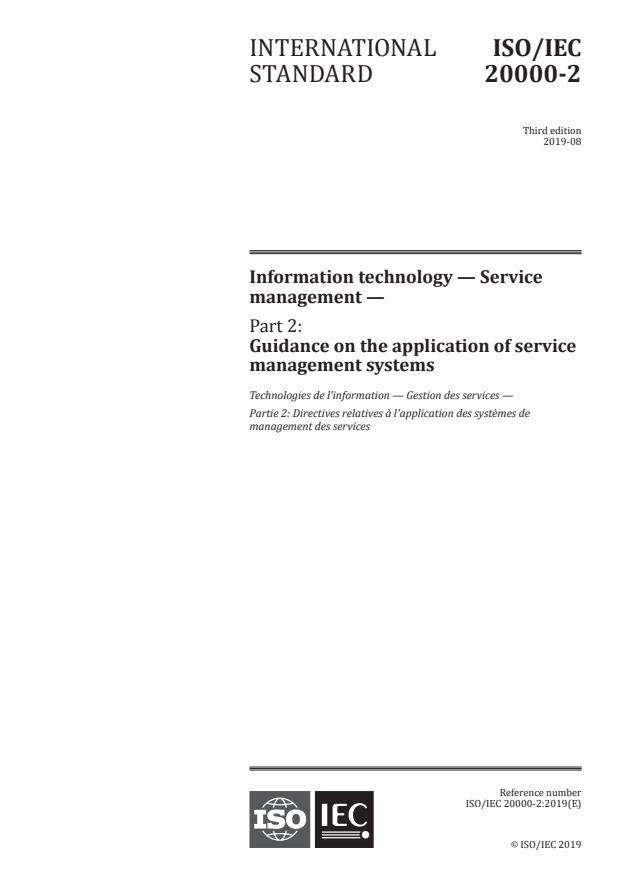 ISO/IEC 20000-2:2019 - Information technology -- Service management