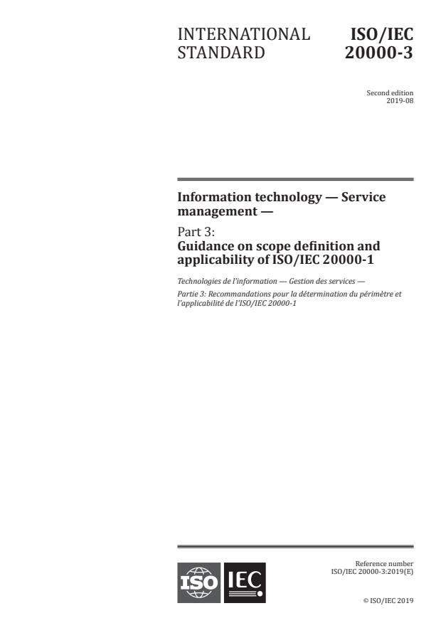 ISO/IEC 20000-3:2019 - Information technology -- Service management