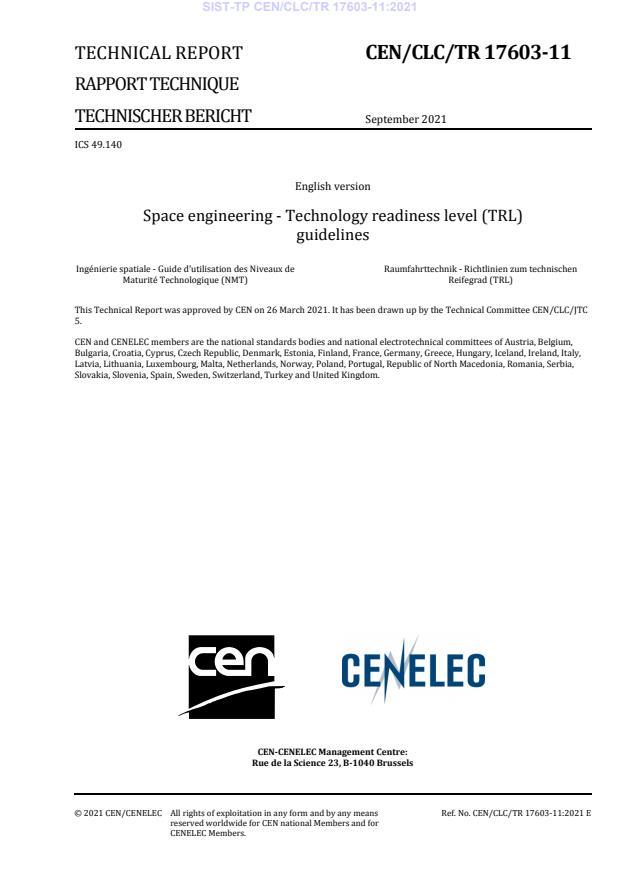 SIST-TP CEN/CLC/TR 17603-11:2021 - BARVE