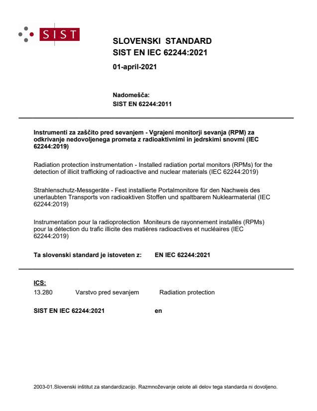 SIST EN IEC 62244:2021