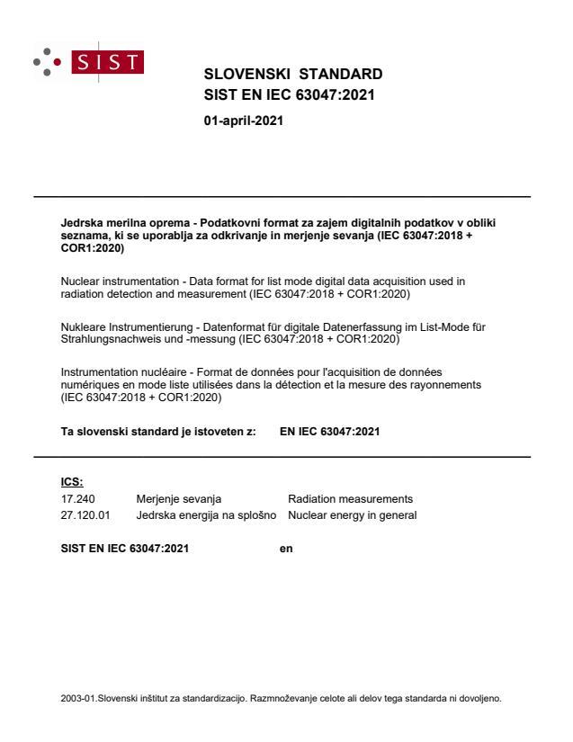 SIST EN IEC 63047:2021