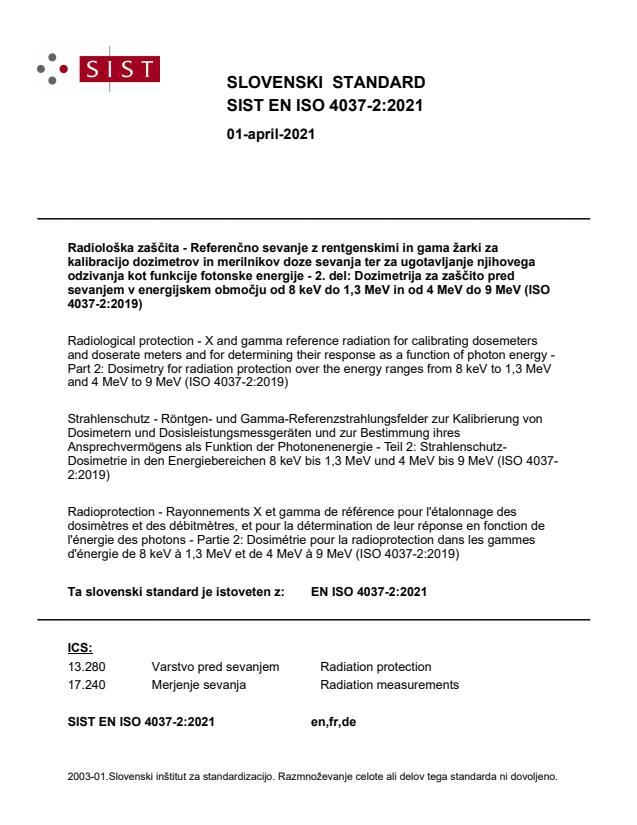 SIST EN ISO 4037-2:2021