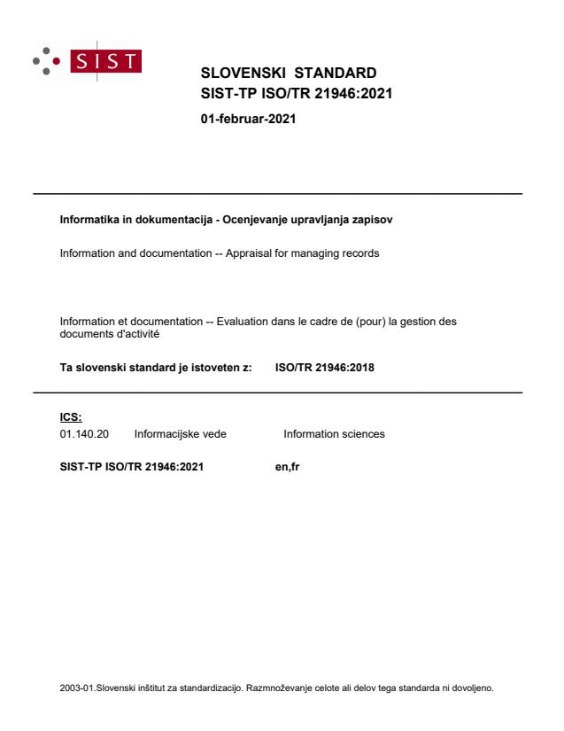 SIST-TP ISO/TR 21946:2021 - BARVE na PDF-str 10