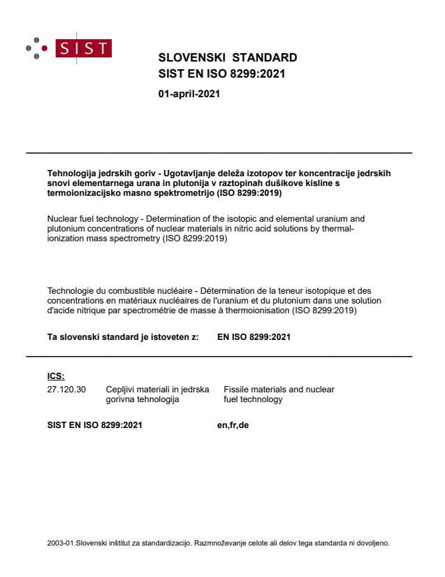 SIST EN ISO 8299:2021