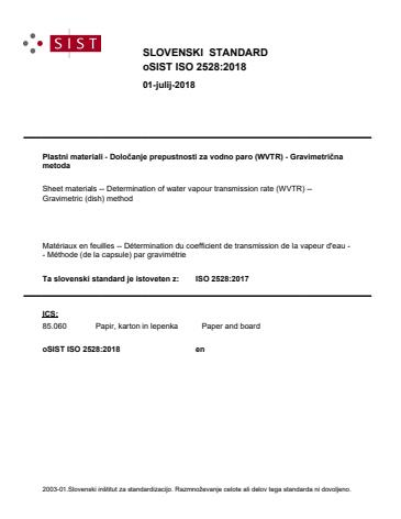 ISO 2528:2018