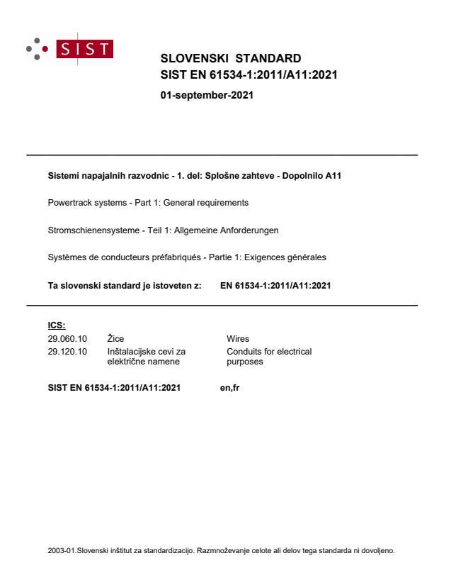 SIST EN 61534-1:2011/A11:2021