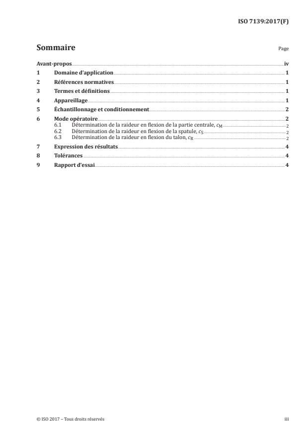 ISO 7139:2017 - Skis de fond -- Détermination des caractéristiques élastiques