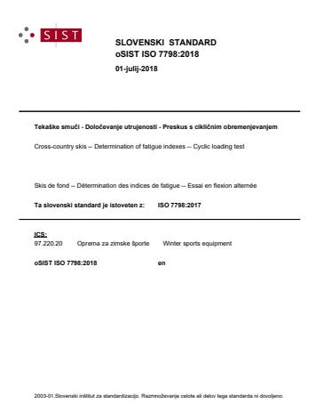ISO 7798:2018