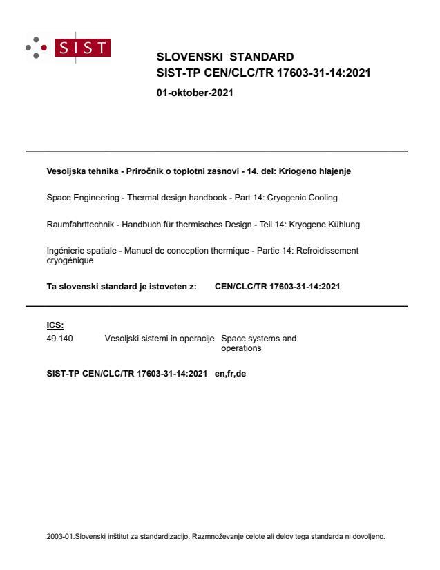 SIST-TP CEN/CLC/TR 17603-31-14:2021