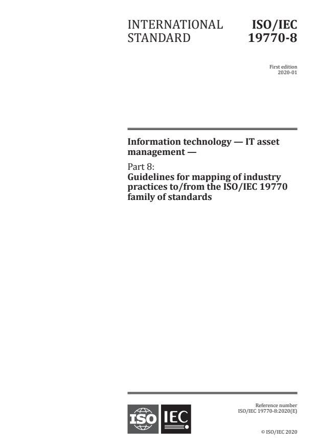 ISO/IEC 19770-8:2020 - Information technology -- IT asset management