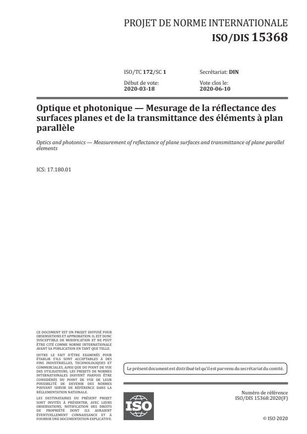 ISO/FDIS 15368